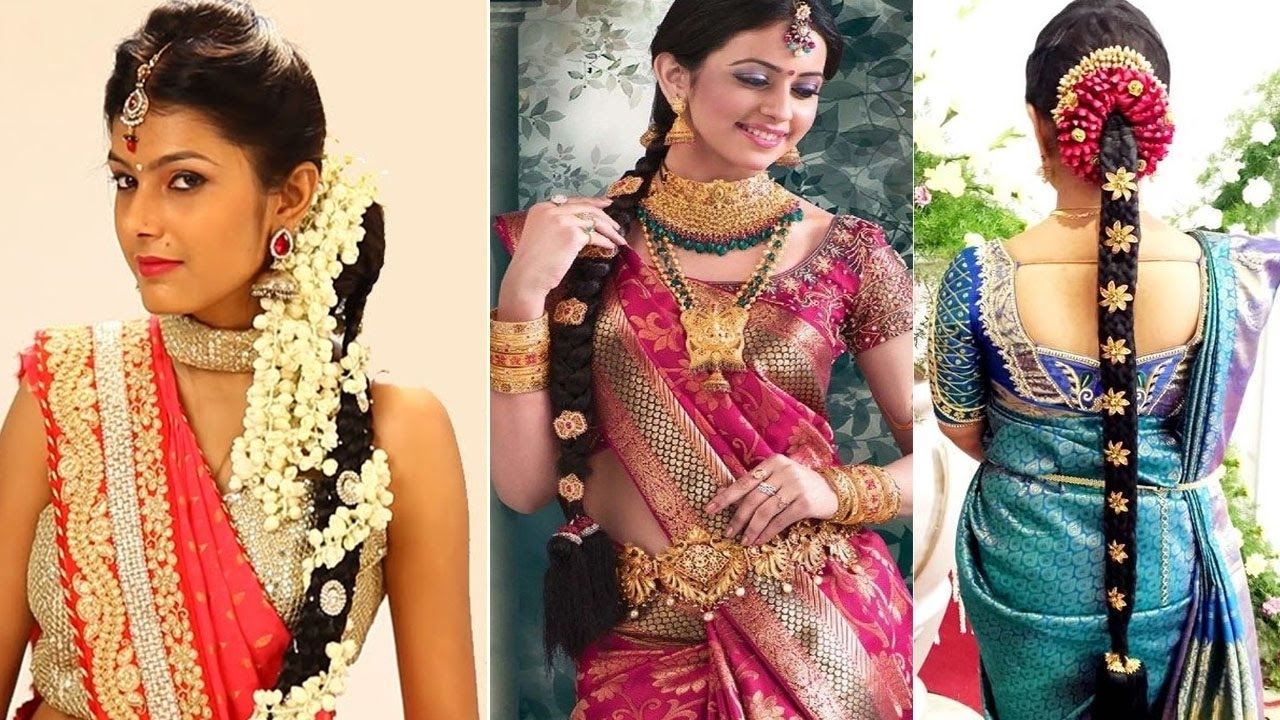 Well Liked Braid Hairstyles For Reception In South Indian Bridal Hairstyles Stepstep (View 15 of 15)