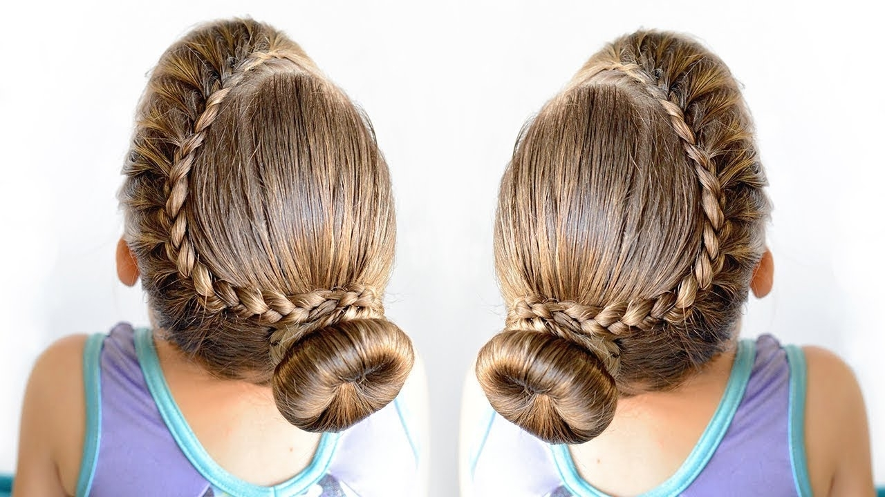 Well Liked Braided Hairstyles For Dance Regarding Lace Braid Bun – Dance Hairstyle For Little Girls – Youtube (View 15 of 15)