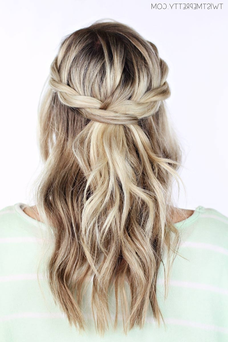 Well Liked Half Up Braided Hairstyles Throughout Twisted Crown Braid Tutorial – Twist Me Pretty (View 11 of 15)