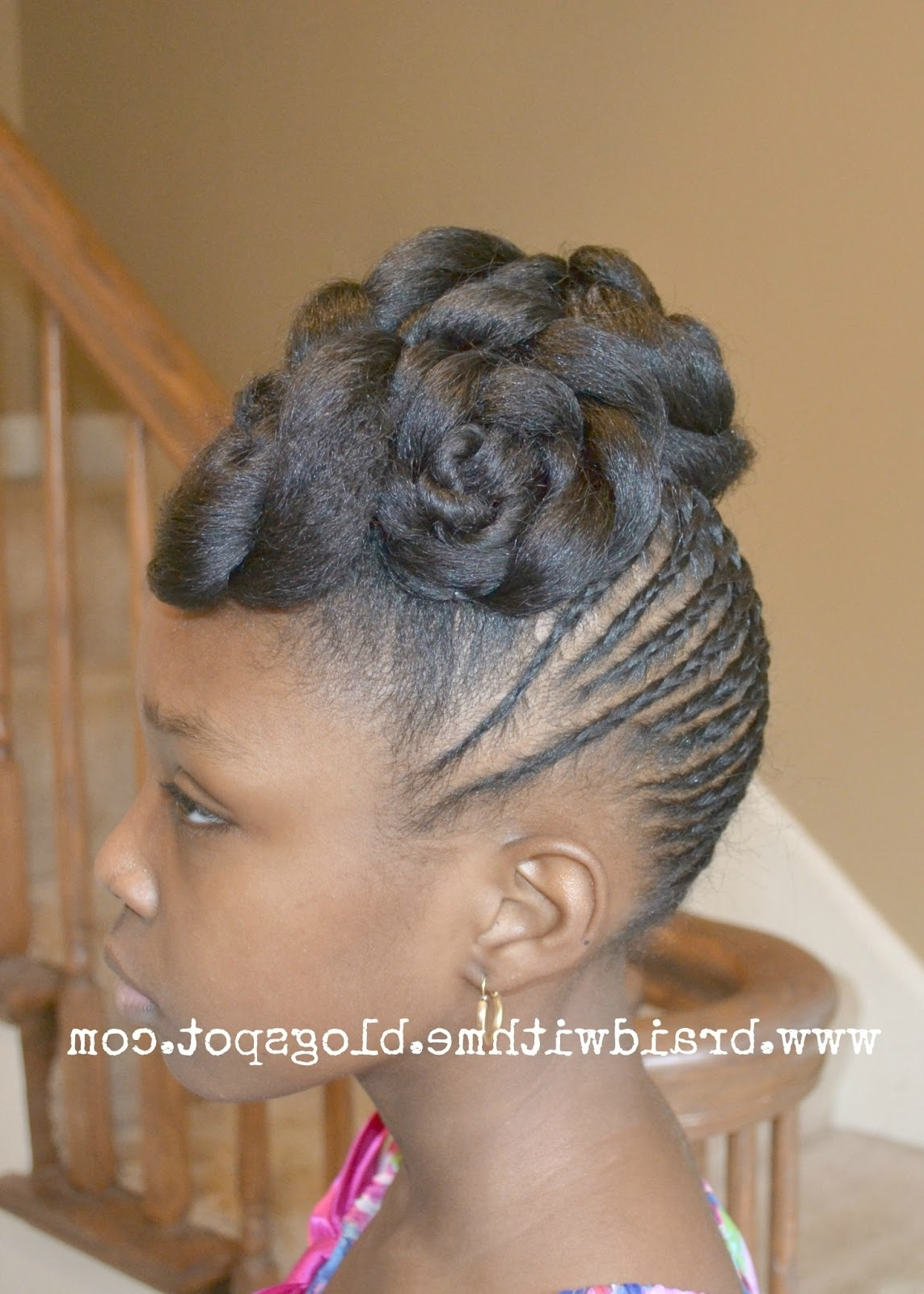 Well Liked Updo Black Braided Hairstyles Inside Updo Black Braided Hairstyles (View 15 of 15)