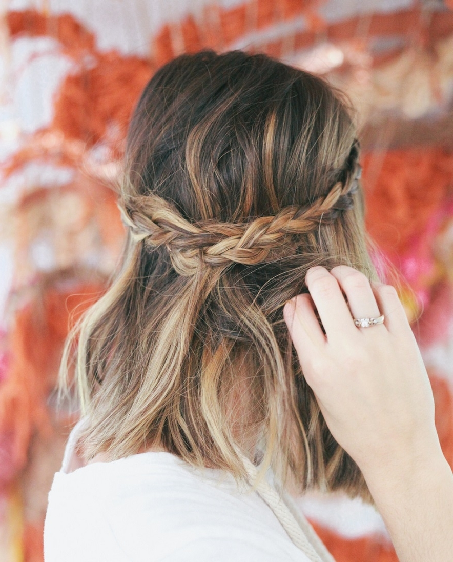 Widely Used Up Braided Hairstyles Inside 30 Swanky Braided Hairstyles To Do On Short Hair (View 15 of 15)