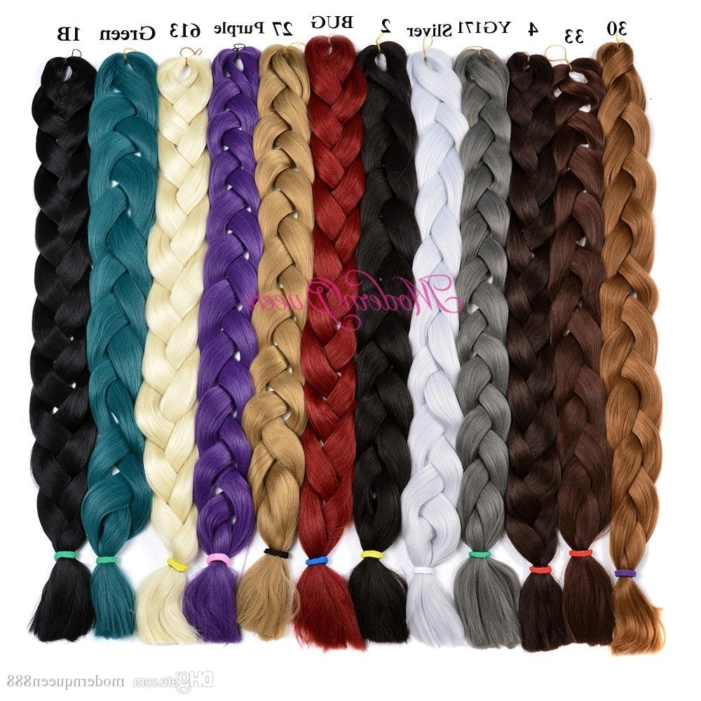 Xpression Synthetic Braiding Hair Wholesale Cheap 82Inch 165Grams Within Fashionable Braided Hairstyles With Color (View 15 of 15)