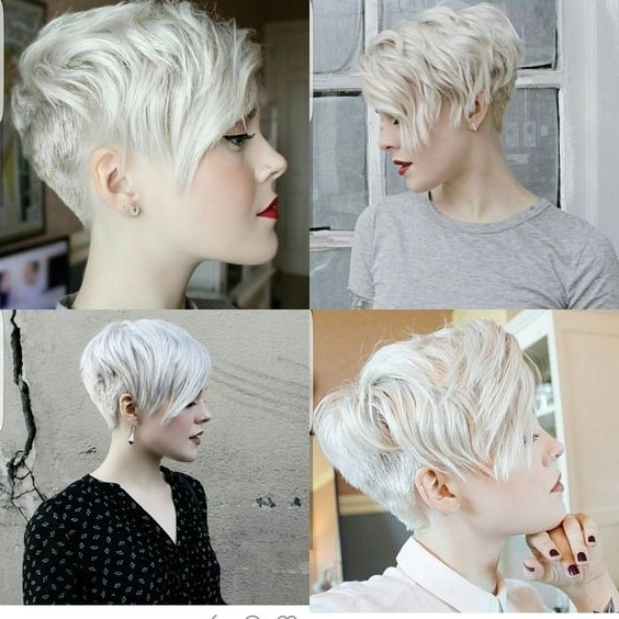 10 Trendy Pixie Hair Cut For Blondes & Brunettes, 2018 Women Hairstyles Throughout Most Current Ash Blonde Pixie With Nape Undercut (View 1 of 15)