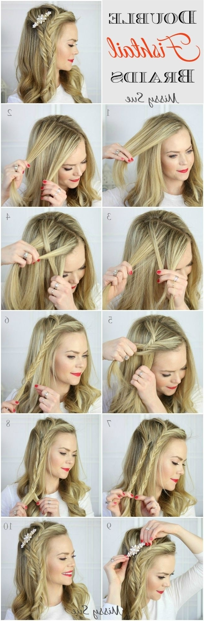12 Amazing French Braid Hairstyles Tutorials – Pretty Designs Intended For Newest Two French Braids And Side Fishtail (View 4 of 15)