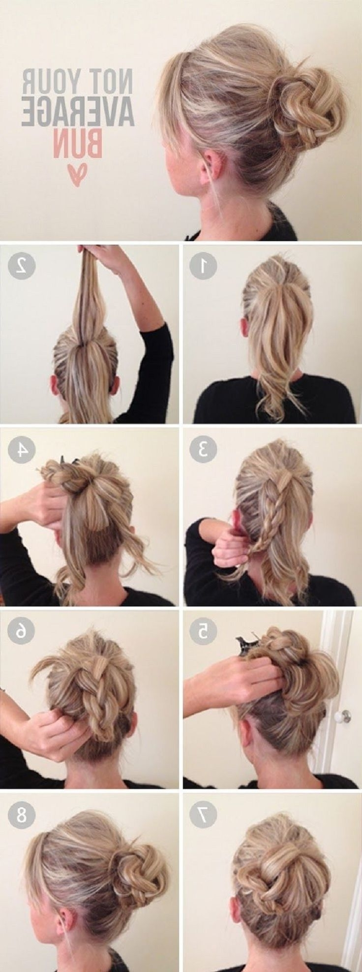 14 Amazing Double Braid Bun Hairstyles – Pretty Designs Within 2018 Double Braids Updo Hairstyles (View 1 of 15)