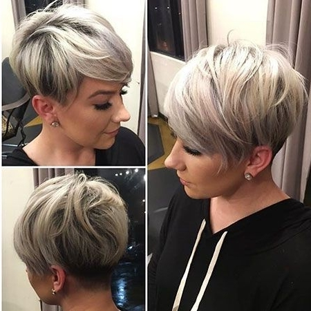 Photo Gallery Of Stacked Pixie Bob Haircuts With Long Bangs Viewing
