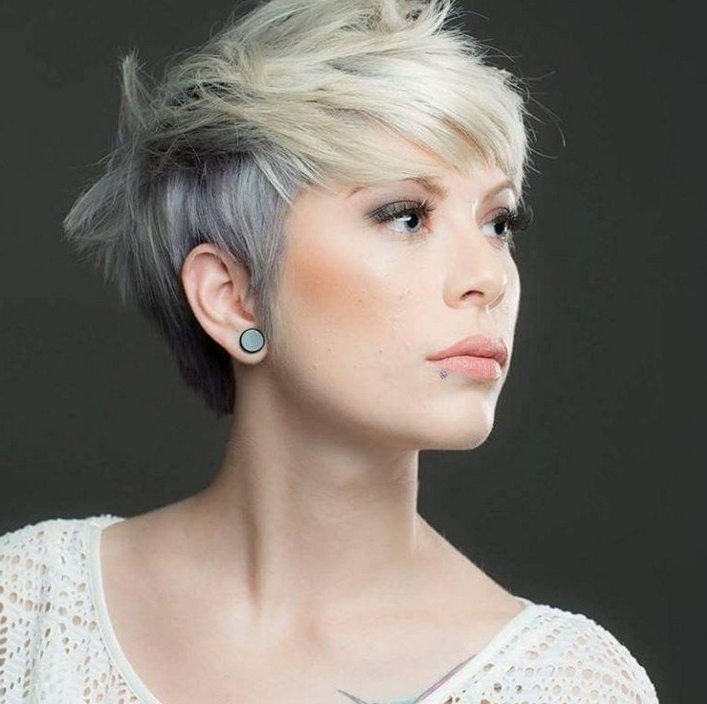 15 Ways To Rock A Pixie Cut With Fine Hair: Easy Short Hairstyles In Current Blonde Pixie Haircuts With Short Angled Layers (View 1 of 15)