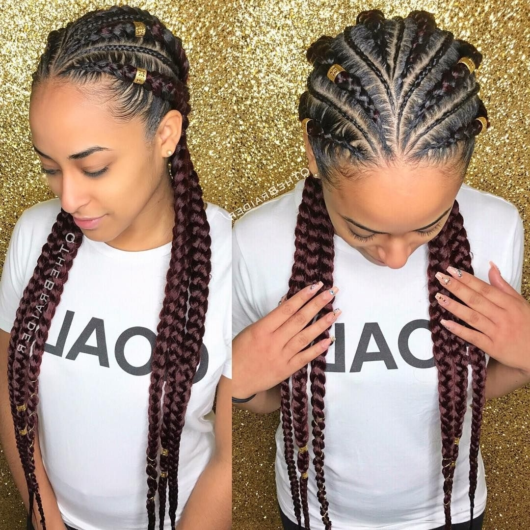 "155 Likes, 5 Comments – Qthebraider (@qthebraider) On Instagram: ""6 Pertaining To Preferred Thick And Thin Asymmetrical Feed In Braids (View 12 of 15)"