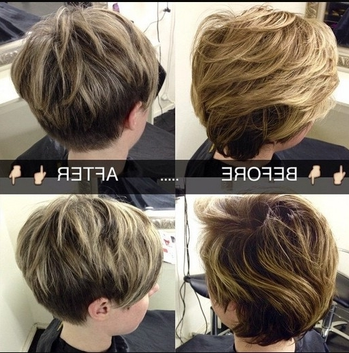 18 Latest Short Layered Hairstyles: Short Hair Trends For 2018 Within Well Liked Brunette Pixie With Feathered Layers (View 1 of 15)