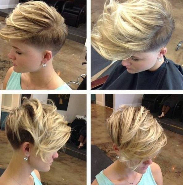 18 Short Hairstyles Perfect For Fine Hair – Popular Haircuts Regarding Most Recent Tousled Pixie With Undercut (View 2 of 15)