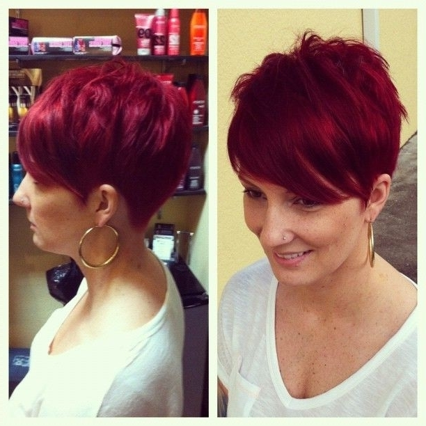 18 Short Red Haircuts: Short Hair For Summer&winter – Popular Haircuts Regarding Well Liked Long Red Pixie Haircuts (View 3 of 15)