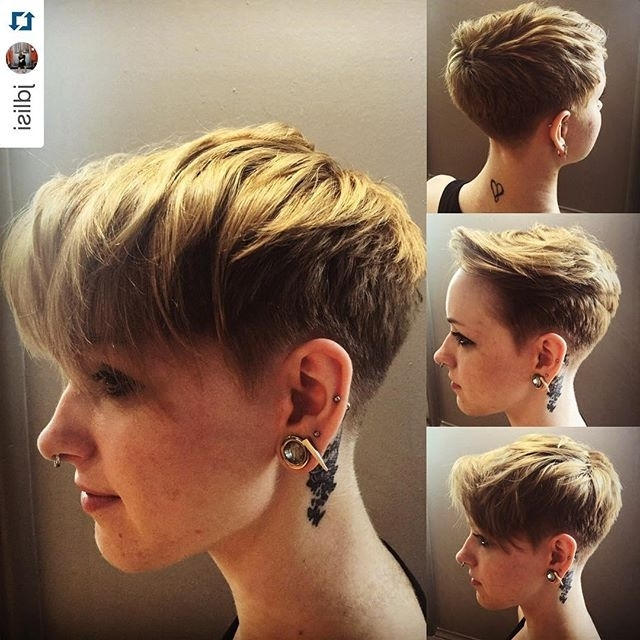 19 Incredibly Stylish Pixie Haircut Ideas – Short Hairstyles For 2018 Inside Most Popular Stacked Pixie Haircuts With V Cut Nape (View 1 of 15)