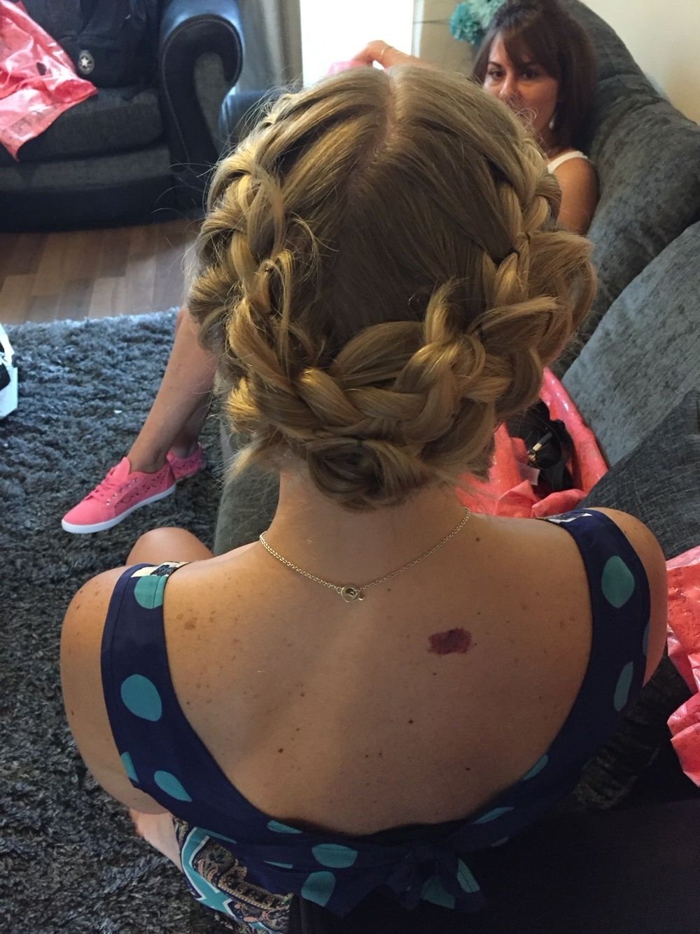 2 French Plaits Pinned Up (View 1 of 15)