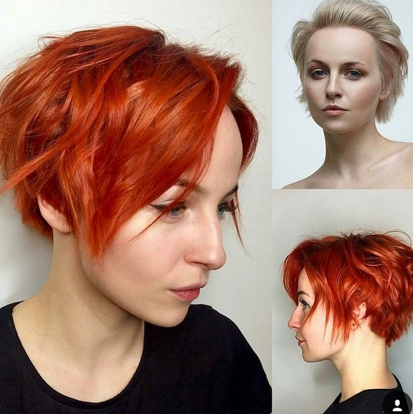 20 Adorable Short Hairstyles For Girls – Popular Haircuts Pertaining To Famous Shaggy Pixie Haircuts In Red Hues (View 4 of 15)