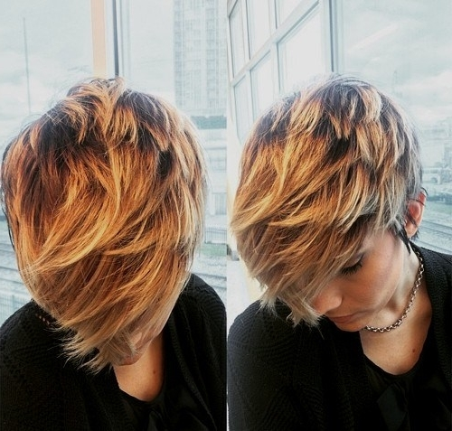 20 Amazing Short Balayage Hair Styles: Stylish Hair Color Ideas 2017 Intended For Newest Feathered Pixie Haircuts With Balayage Highlights (View 1 of 15)