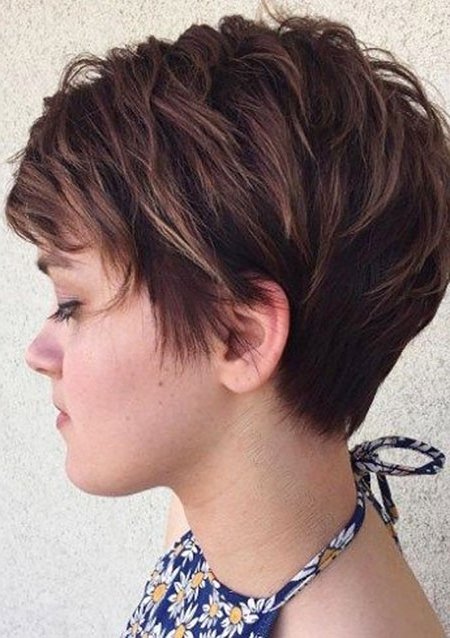 20 Chic Short Hairstyles For Women 2018 – Pretty Designs Intended For Most Popular Reddish Brown Layered Pixie Bob Haircuts (View 5 of 15)