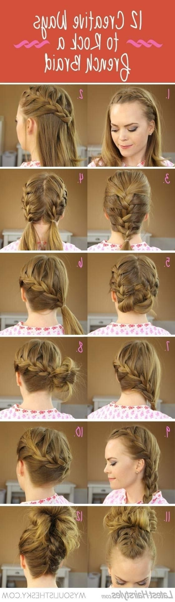 20 Cute And Easy Braided Hairstyle Tutorials With Latest Simple French Braids For Long Hair (View 2 of 15)