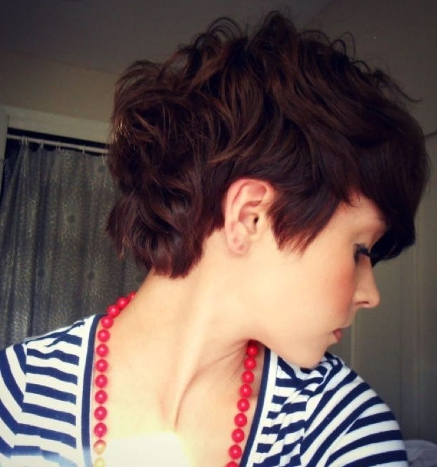 20 Gorgeous Wavy And Curly Pixie Hairstyles: Short Hair Ideas Regarding Latest Long Curly Pixie Haircuts (View 4 of 15)