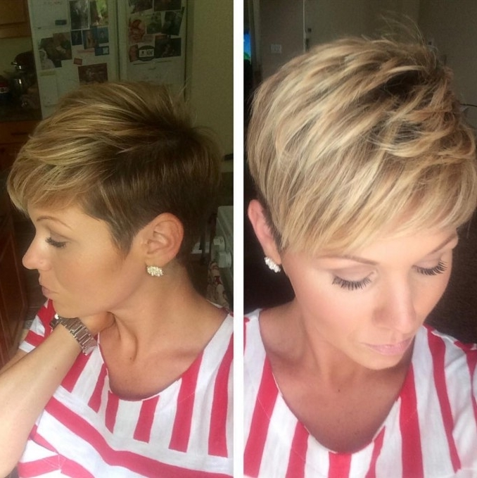 20 Pixie Cuts For Short Hair You'll Want To Copy! – Pretty Designs In Preferred Ash Blonde Pixie With Nape Undercut (View 3 of 15)