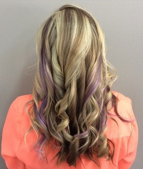 20 Sassy Purple Highlighted Hairstyles – Hairstyles Weekly Inside Fashionable Piece Y Haircuts With Subtle Balayage (View 1 of 15)
