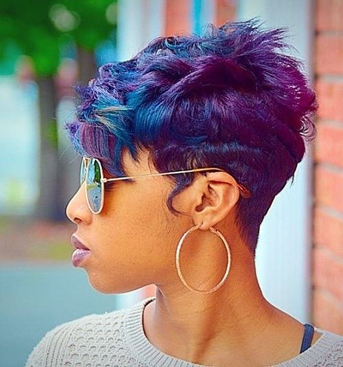 20 Trendy African American Pixie Cuts 2017 – Pixie Cuts For Black Women Inside Trendy Choppy Asymmetrical Black Pixie Haircuts (View 1 of 15)