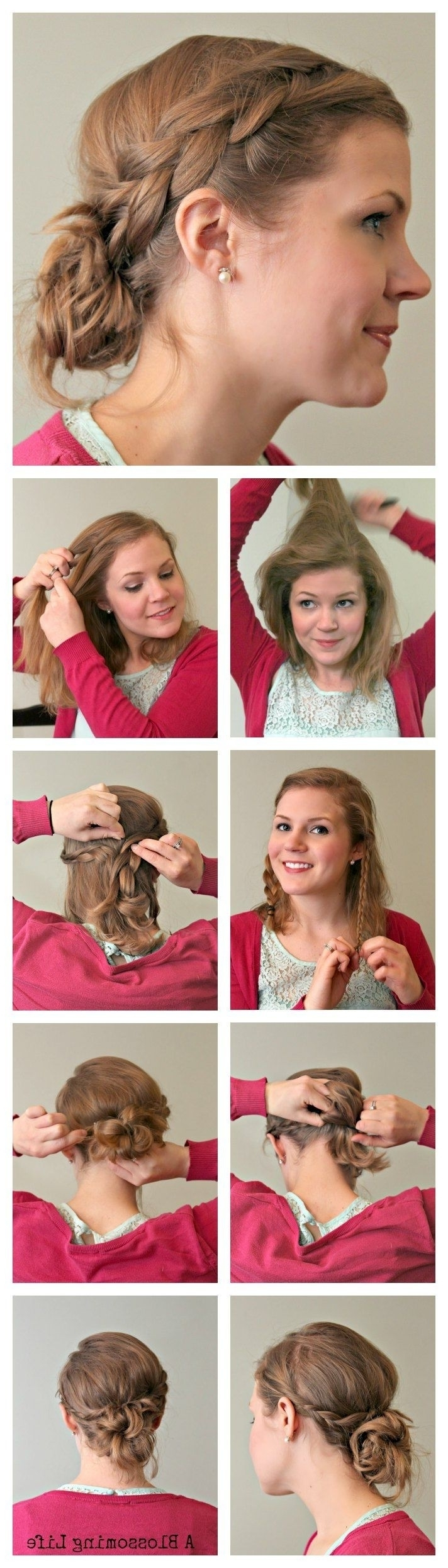 2017 Braid Hairstyles To Messy Bun For 10 Super Easy Updo Hairstyles Tutorials – Popular Haircuts (View 14 of 15)