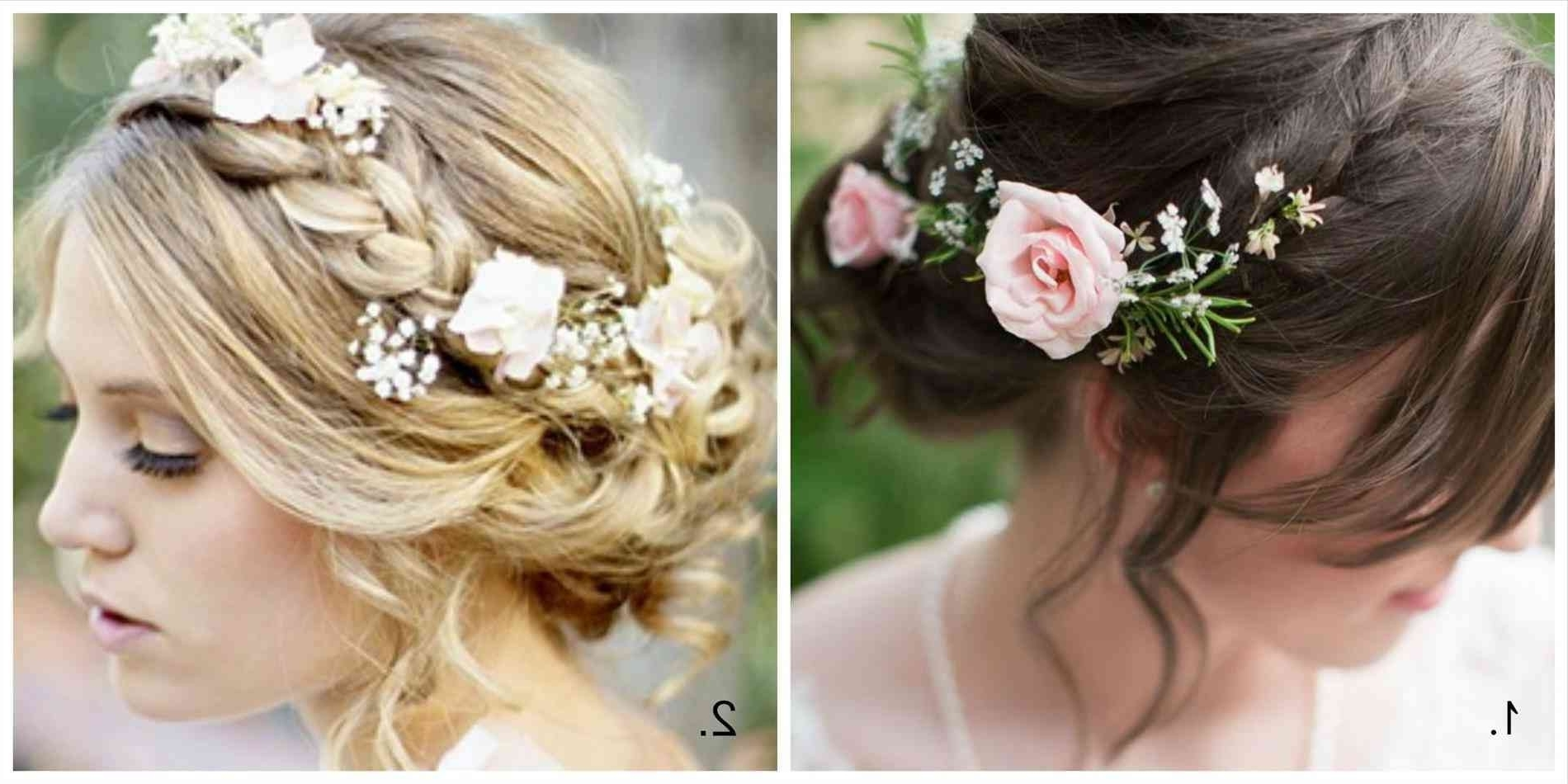 2017 Braids And Flowers Hairstyles Inside Wedding Hair Braided Flowers Nice Wedding Hairstyles Braids Flowers (View 7 of 15)