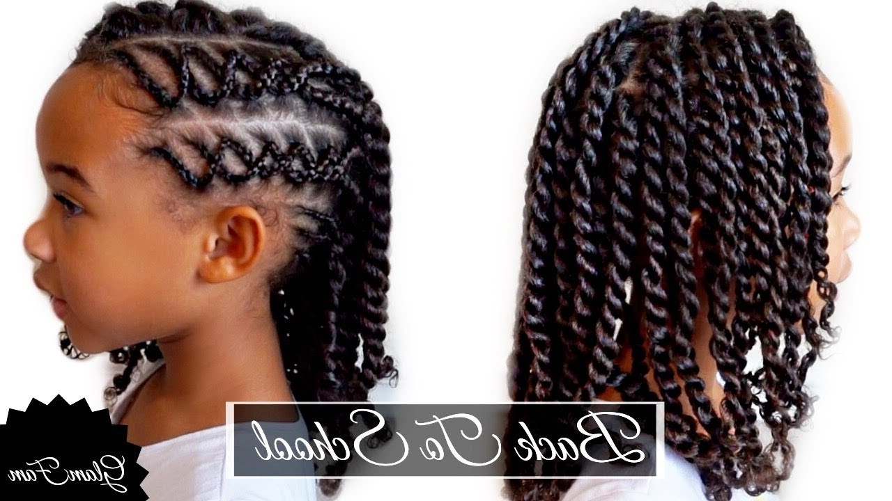 2017 Cornrows Hairstyles For School With Regard To Braided Children's Hairstyle (View 3 of 15)