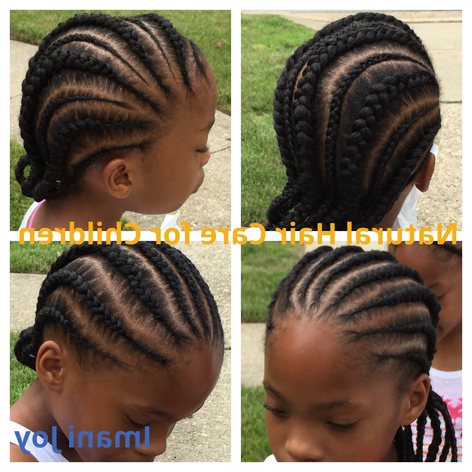 2017 Cornrows Hairstyles To The Back With Regard To Ideas Collection Children Cornrow Hairstyles Perfect Straight Back (View 1 of 15)