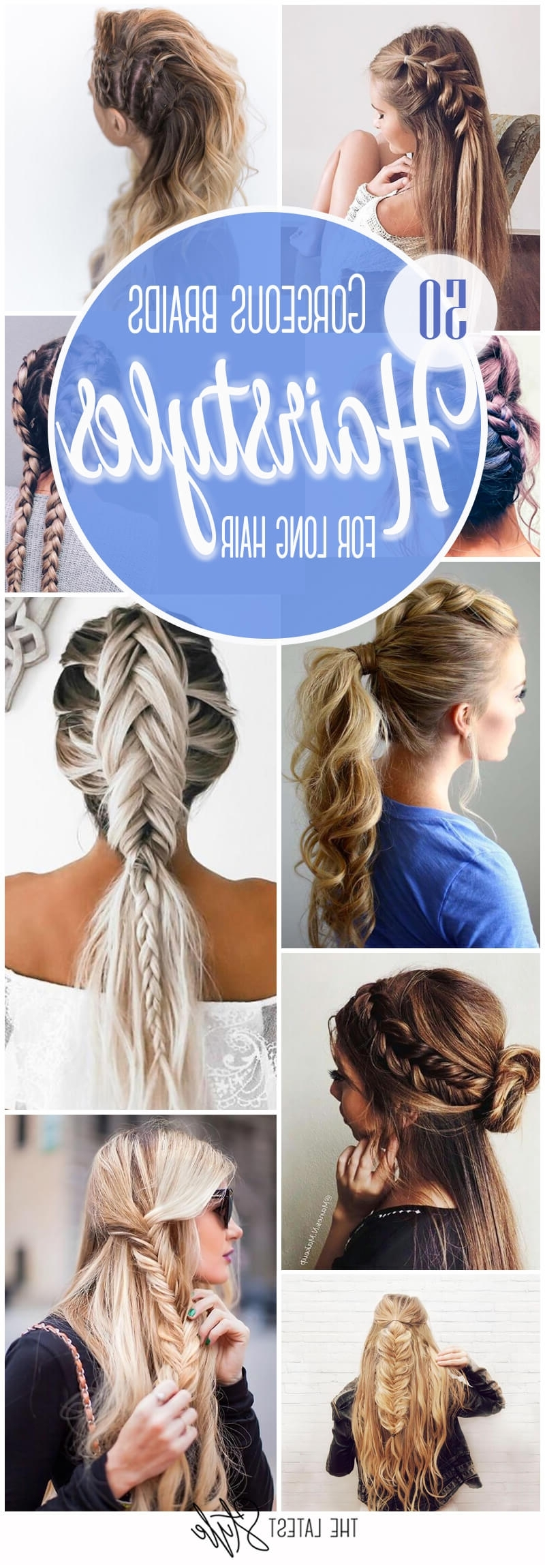 2017 Pair Of Braids With Wrapped Ponytail For 50 Gorgeous Braids Hairstyles For Long Hair (View 7 of 15)