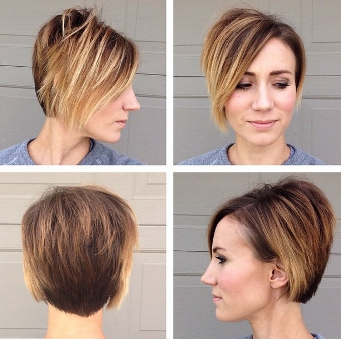 2017 Stacked Pixie Bob Haircuts With Long Bangs With Regard To 22 Beautiful Long Pixie Hairstyles For Women – Pretty Designs (View 3 of 15)