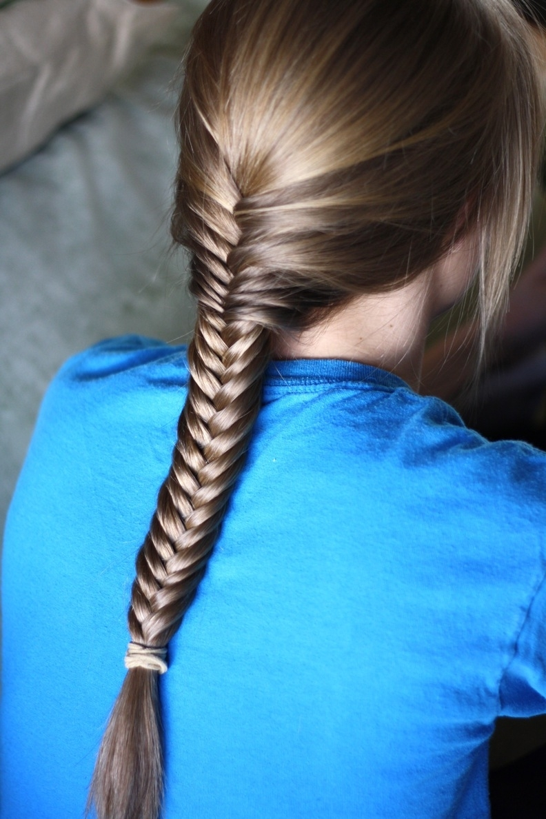2017 Two French Braids And Side Fishtail With Fishtail French Braid With Side Waterfall Hairstyle – Womenitems (View 14 of 15)