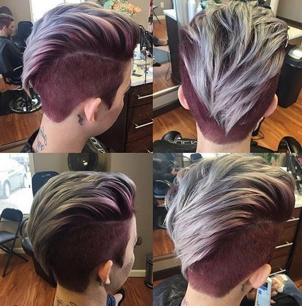 2017 Two Tone Pixie Haircuts In 360 Pixie Haircut View – Shaved Short Hairstyle For Thick Hair (View 2 of 15)