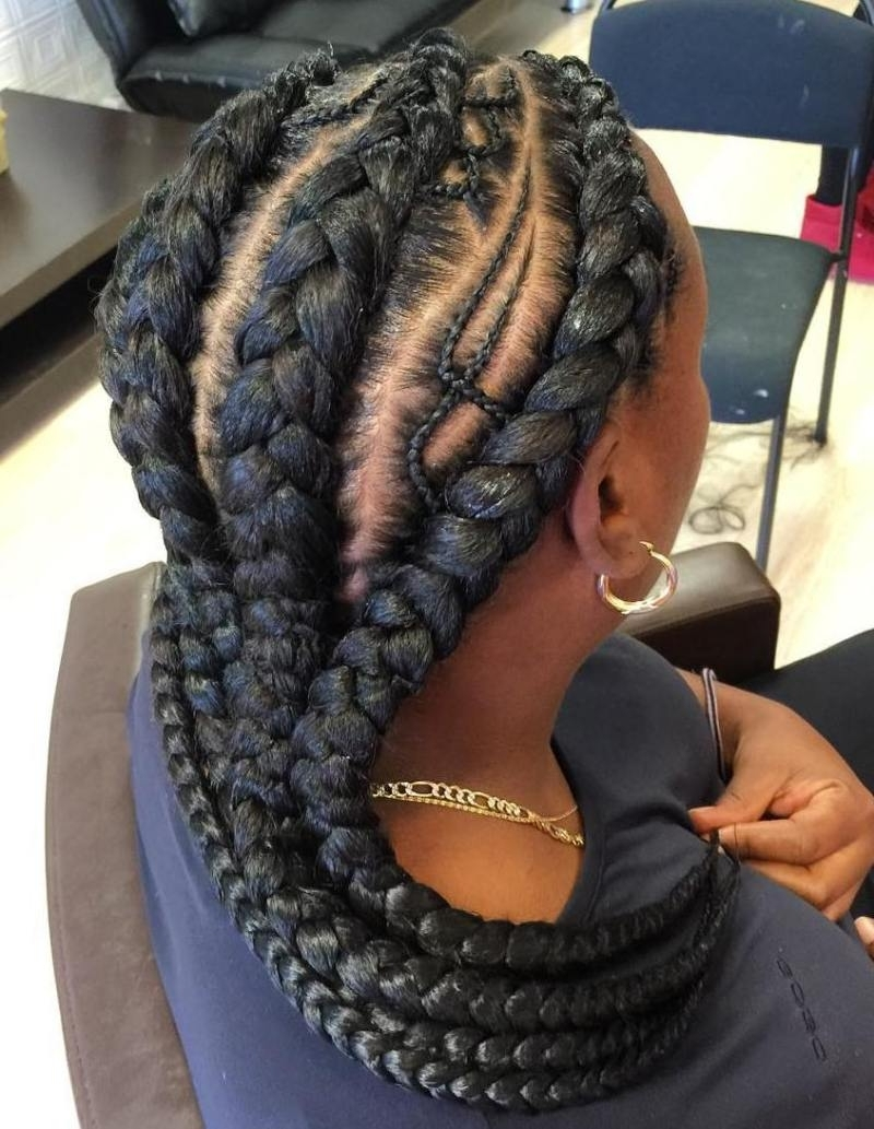 2018 Chunky Mohawk Braid With Cornrows With Regard To 31 Ghana Braids Styles For Trendy Protective Looks – Part (View 2 of 15)