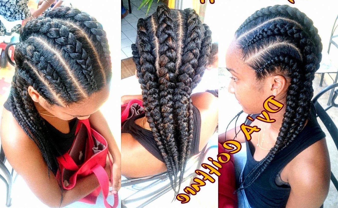 2018 Cornrows Hairstyles Going Back Regarding How To ☆ 6 Straight Back Feed In Cornrows From Different Angles (View 10 of 15)