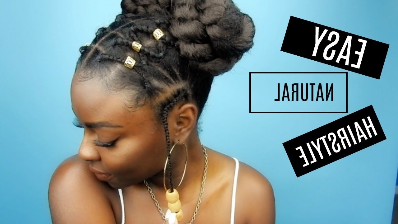 2018 Crossed Twists And Afro Puff Pony Intended For Natural Hairstyle (View 11 of 15)