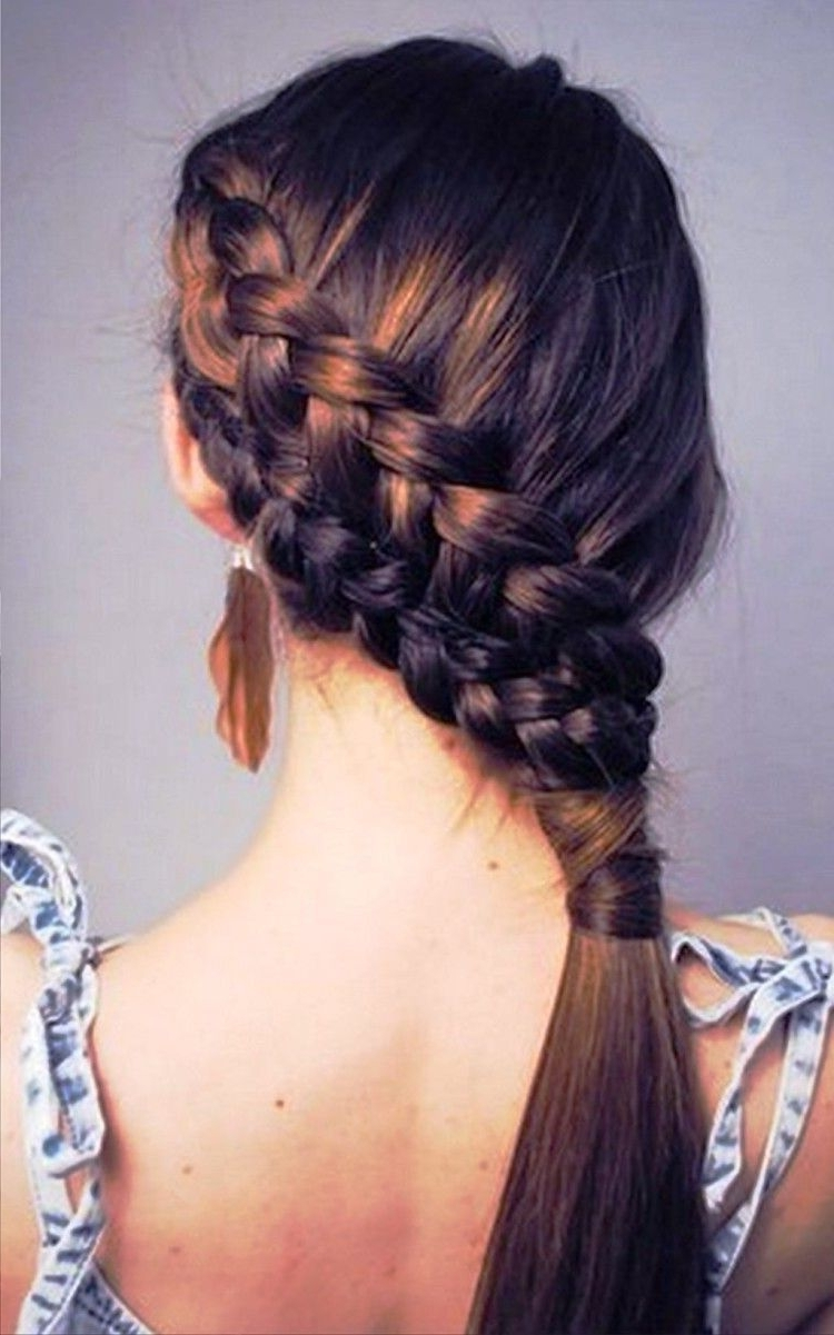 2018 Double French Braids And Ponytails Pertaining To 8 Braided Hairstyles To Dress Up Your Boring Ponytail (View 2 of 15)