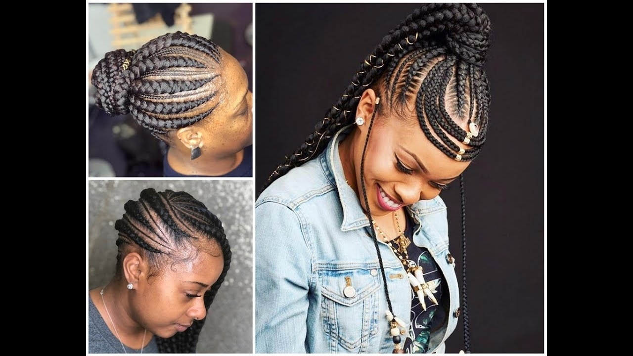 2018 Feed In Braids Styles : Stylish Hairstyles To Make – Youtube Regarding Well Known Feed In Braids Hairstyles (View 1 of 15)
