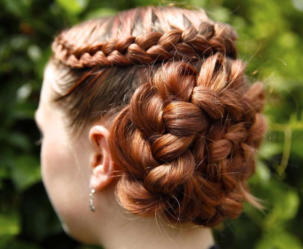 2018 French Braids In Flower Buns Pertaining To How To Do A Dutch Flower Braid: 7 Steps (with Pictures) (View 3 of 15)