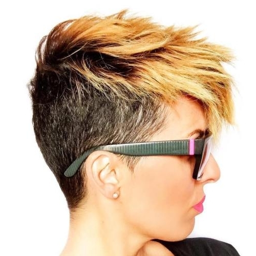 2018 Two Tone Pixie Haircuts In Pixie Haircuts For Thick Hair – 40 Ideas Of Ideal Short Haircuts (View 3 of 15)
