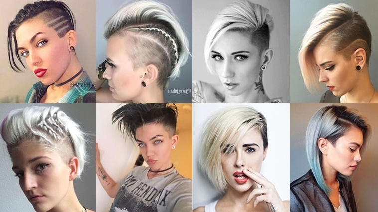 2018 Undercut Short Bob Hairstyles And Haircuts For Women – Hairstyles With Preferred Pixie Bob Haircuts With Temple Undercut (View 15 of 15)