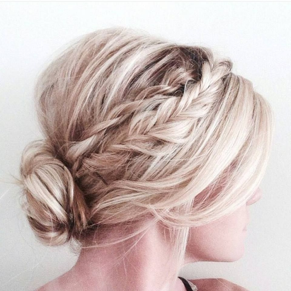 2018 Unique Braided Up Do Hairstyles With Regard To 60 Trendy Latest Easy Hair Updos To Look Stunning This Summer (View 13 of 15)