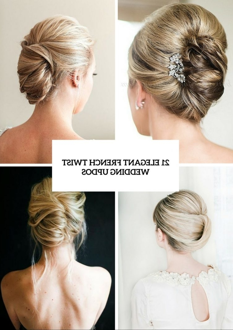 21 Elegant French Twist Updos To Get Inspired – Weddingomania For Popular Fancy Twisted Updo Hairstyles (View 6 of 15)