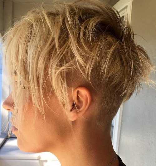 22 Hottest Easy Short Haircuts For Women – Pretty Designs Inside Trendy Uneven Undercut Pixie Haircuts (View 1 of 15)