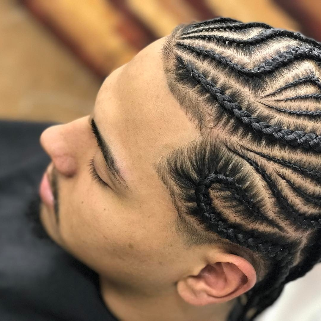 24 Popular Man Braids Hairstyles 2017 Within Trendy Cornrows Hairstyles For Guys (View 5 of 15)