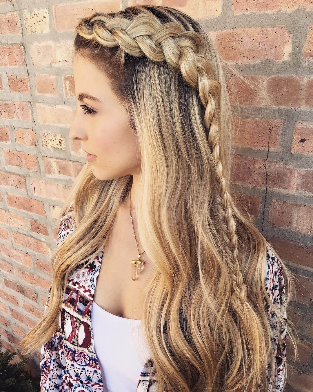 25 Effortless Side Braid Hairstyles To Make You Feel Special With Regard To Recent Braided Crown With Loose Curls (View 1 of 15)