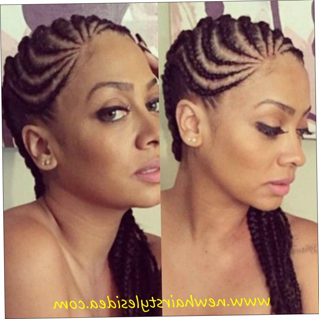 26+ Cool Thick Cornrow Hairstyles 2018 – Straightuphairstyle With Regard To Most Recently Released Thick Cornrows Hairstyles (View 2 of 15)