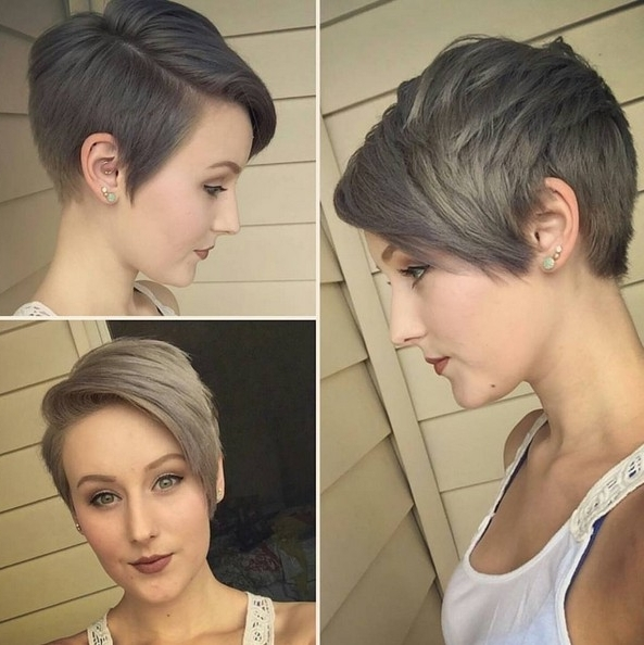 27 Best Short Haircuts For Women: Hottest Short Hairstyles – Popular Within 2018 Disconnected Blonde Balayage Pixie Haircuts (View 1 of 15)