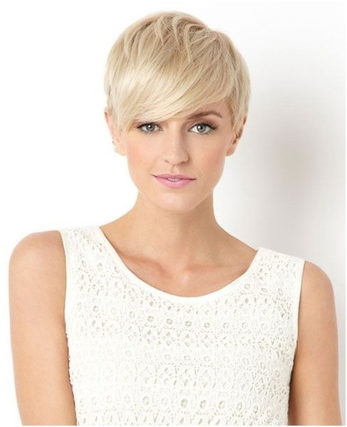 29 Cool Short Hairstyles For Women 2015 – Pretty Designs In Favorite Blonde Pixie Haircuts With Short Angled Layers (View 14 of 15)
