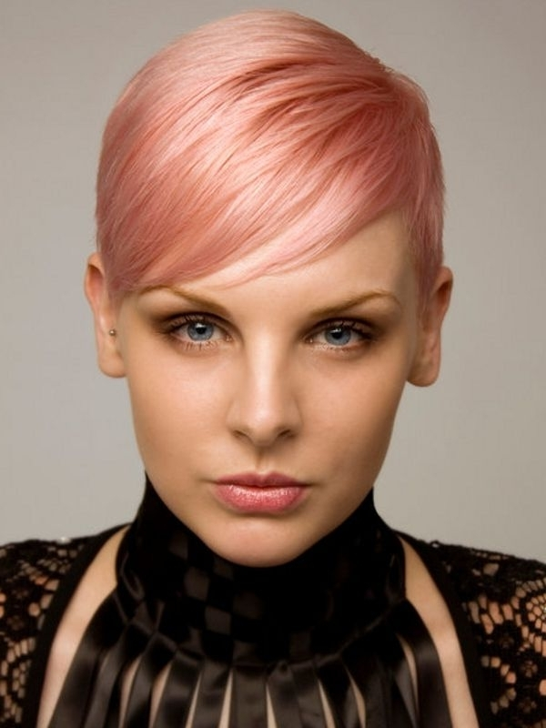 30 Bangs Hairstyles For Short Hair Intended For Most Recently Released Rose Gold Pixie Haircuts (View 1 of 15)